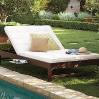 Chesapeake Double Chaise & Cushion | Pottery Barn
