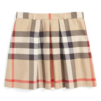 Burberry Pleated Check Skirt (Little Girls & Big Girls) | Nordstrom