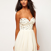 Lipsy Bandeau Dress With Embellishment