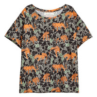 Patterned Jersey Top - from H&M