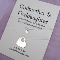 GODMOTHER Necklace // GODMOTHER Goddaughter // Goddaughter Godmother Gift // Godmother Necklace Sterling  // Gift for Godmother. Godchildren