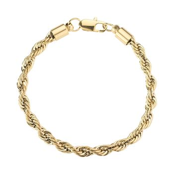 6mm Gold Rope Bracelet