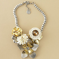 Flower Corsage Necklace - Necklaces - JEWELRY - Jessica Simpson Collection