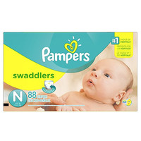 Pampers Swaddlers Diapers Size N Super Pack 88 Count