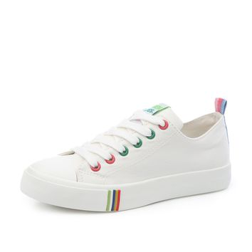 Multicolored Eyelet Canvas Shoes