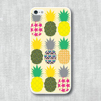 iPhone 5 Case, iPhone 5S Case - Pineapple pattern in lemonade /  iPhone 5S Case, iPhone 5S Cover, Cover for iPhone 5S, Case for iPhone 5S
