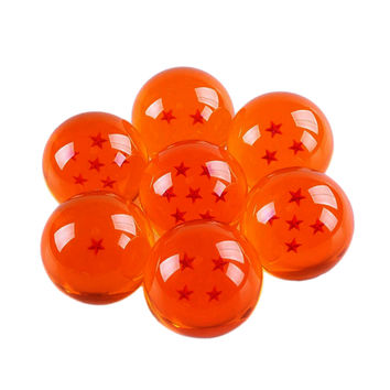 7 Pcs Dragon Balls 35 CM Diameter Acrylic Dragon Balls Crystal Transparent Balls with Box Best Gift for Children SM6