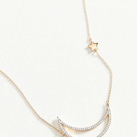 Crescent Moon Delicate Necklace | Urban Outfitters