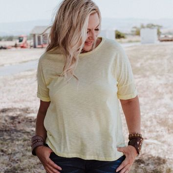 Off The Cuff Basic Tee - Lemon