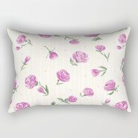 Little Pink Roses Rectangular Pillow by Noonday Design