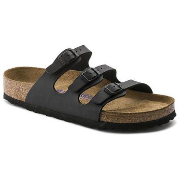 Birkenstock Florida Soft Footbed Birko Flor Black 453431 Sandals