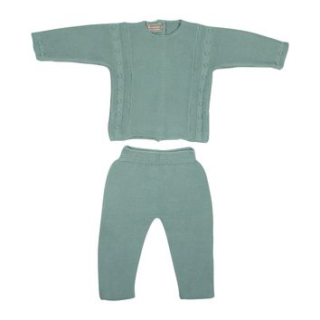 Artesenia Carmina Baby Boys' Cypress Knit Set