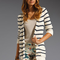 FREE PEOPLE North Beach Cardigan in Ivory Combo at Revolve Clothing - Free Shipping!