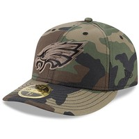 Men's Philadelphia Eagles New Era Woodland Camo Low Profile 59FIFTY Fitted Hat