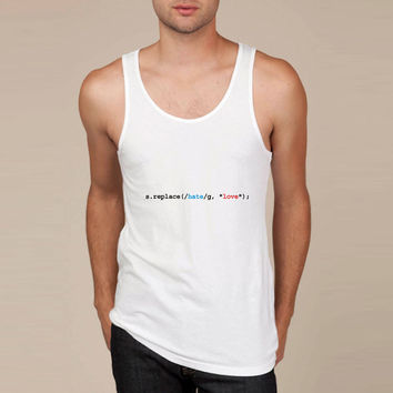 replace hate with love Tank Top