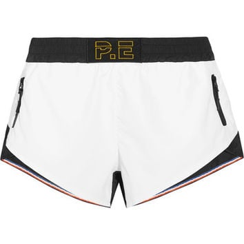 P.E Nation - Stolen Base two-tone shell shorts