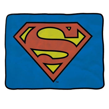 Superman - Shield Logo Fleece Blanket - Blue (Color: Blue) = 1946884932