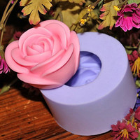3D Rose Flower Soap Mold Flexible Silicone Mould For Handmade Soap Candle Candy Cake Fimo Resin Crafts