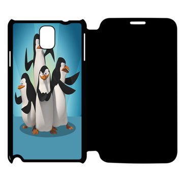 The Penguins of Madagascar All Characters Samsung Galaxy Note 4 Flip Case Cover