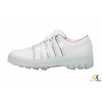 K-Swiss North Classic + Crystals - White/Rose Gold | LE / Rose Gold Pack