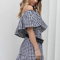 All My Time Gingham Check Dress