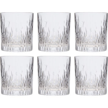 Set Of Six Crystal Fire Tumblers - Bar & Glassware - Cookware & Dining - Home - TK Maxx