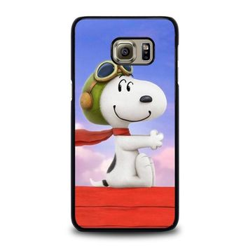 snoopy dog samsung galaxy s6 edge plus case cover  number 1