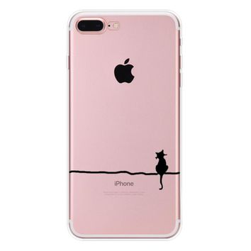 lonely cat case for iphone 7 7plus iphone se 5s 6 6 plus high quality cover gift box 90  number 1