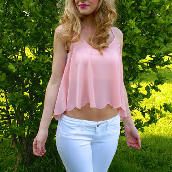 The Sweetest Thing Crop Top: Blush