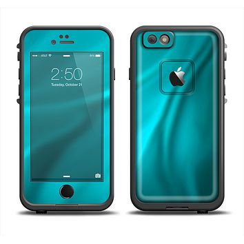 The Turquoise Blue Highlighted Fabric Apple iPhone 6 LifeProof Fre Case Skin Set