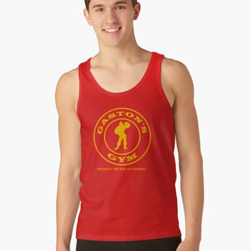 'Gaston's Gym - Roughly the Size of a Barge' T-Shirt by ShoeboxMemories