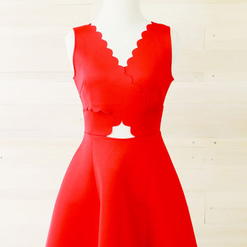 G Culture: Perfectly Romantic Dress- Red
