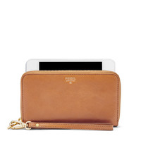 Sydney Zip Phone Wallet, Camel