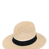 MAISON MICHEL - VIRGINIE STRAW HAT WITH TWO TONE RIBBON - LUISAVIAROMA - LUXURY SHOPPING WORLDWIDE SHIPPING - FLORENCE