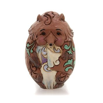 Jim Shore ANIMAL CHARACTER EGGS Polyresin Hand Painted 6001079 Fox