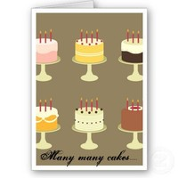 Birthday Cakes Card from Zazzle.com