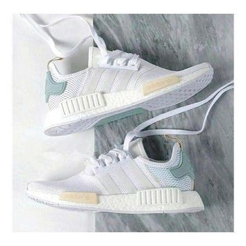 VLX85E Beauty Ticks 2017 Adidas Nmd Fashion Women Leisure Running Sports Shoes Mesh Blackgolde