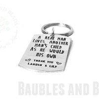 Personalized Step Dad Keychain