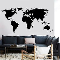 Wall Decal World Map Atlas Vinyl Sticker For Living Room Unique Gift (z2836)