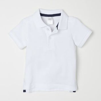 Polo Shirt - White - Kids | H&M US