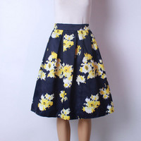 Yellow Flowers Tutu Skirt