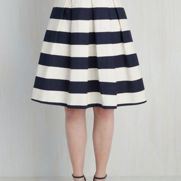Whole Yacht of Love Skirt in Navy