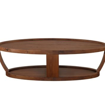Dylan Oval Coffee Table Rustic Walnut Solid American Walnut Wood