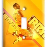 kobe bryant los angeles lakers nba 01v light switch cover  number 1