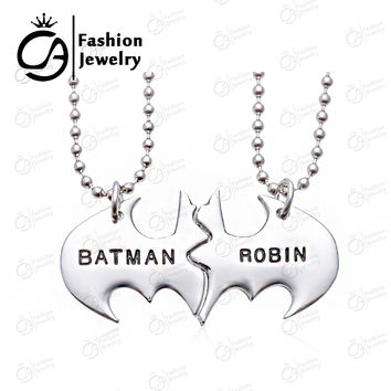 2015 Trend BATMAN ROBIN Best Friends Personalized Friendship Pendant Necklace Gift for him #LN1068