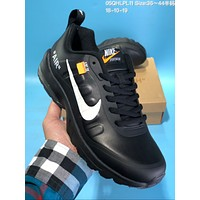 KUYOU N601 Off White Air MAX 95 Leather Casual Running Shoes Black