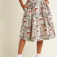 Emily and Fin Far-Out and Fabulous Midi Skirt in Village