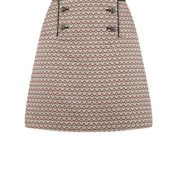 HEART JACQUARD SKIRT