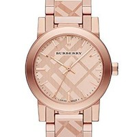 Burberry BU9235 26mm Gold Plated Stainless Steel Case Rose Gold Gold Plated Stainless Steel Synthetic Sapphire Women's Watch