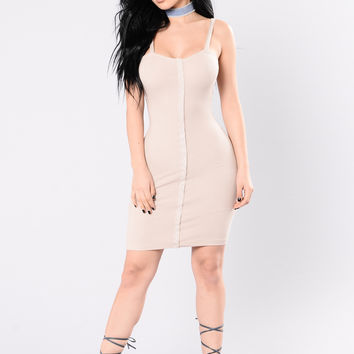 Get On Your Grind Dress - Taupe